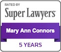 Super Lawyers 5 Years - Mary Ann Connors